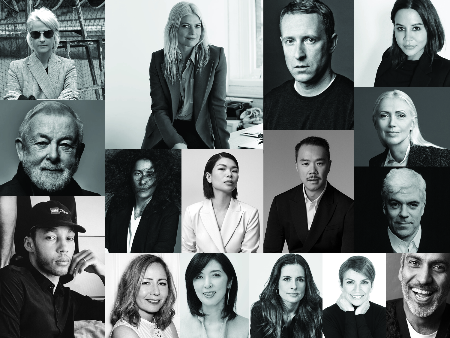 The faces of the latest Woolmark advisory board, who will pick 10 finalists for the international prize.