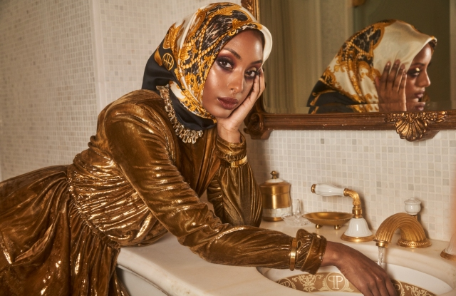 A look from Haute Hijab's new Heritage collection.