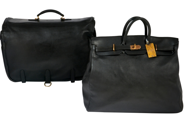 The two bags owned by Jane Birkin and Serge Gainsbourg