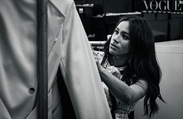 The Duchess of Sussex at work on the September issue of British Vogue