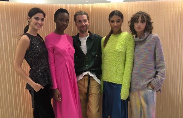 Sander Lak of Sies Marjan with models at Nordstrom.