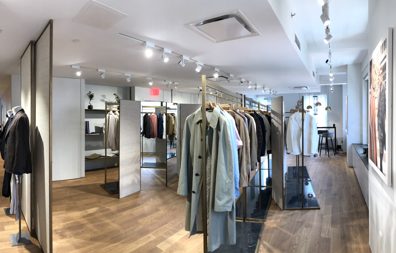 Caruso's new showroom on Madison Avenue.