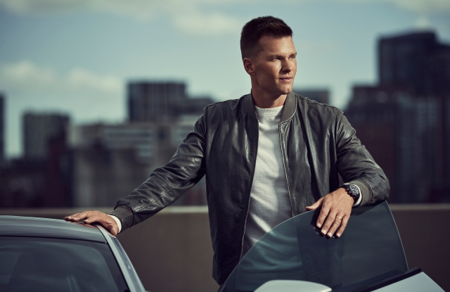 Tom Brady in a campaign image for IWC watches.