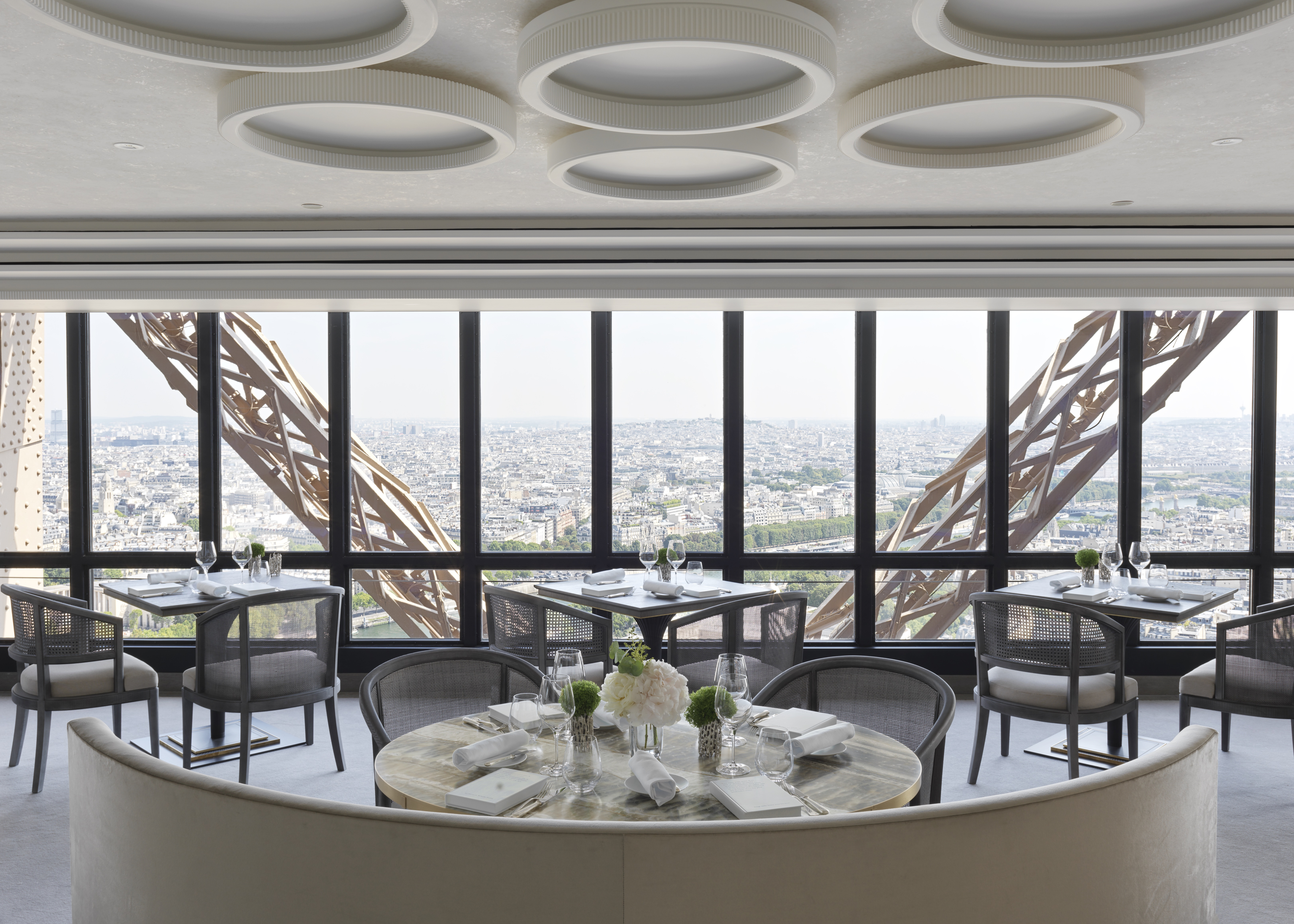 The new Jules Verne restaurant at the Eiffel Tower