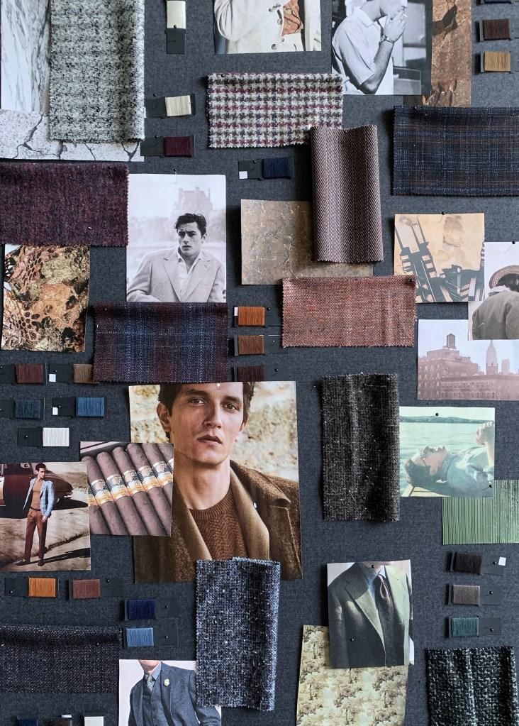 The moodboard for Lanificio F.lli Cerruti fall 2020 collection.