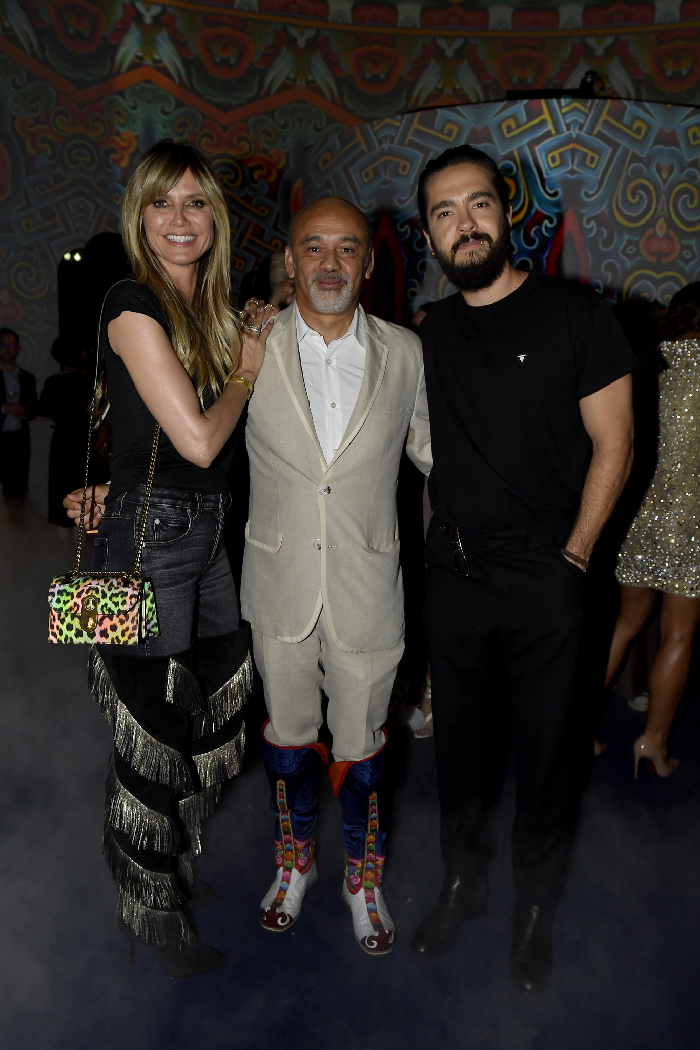 Heidi Klum, Christian Louboutin and Tom Kaulitz