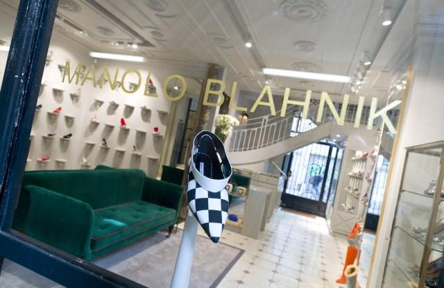 The Manolo Blahnik store in Paris