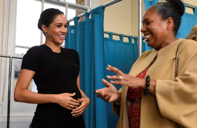 Meghan Duchess of Sussex, speaks to Patsy Wardally, during her visit to Smart Works, in London, on the day that she has become their patron, in West London.Royal, London, United Kingdom - 10 Jan 2019Meghan on Thursday has become patron of the Smart Works charity that supports unemployed women to return to work