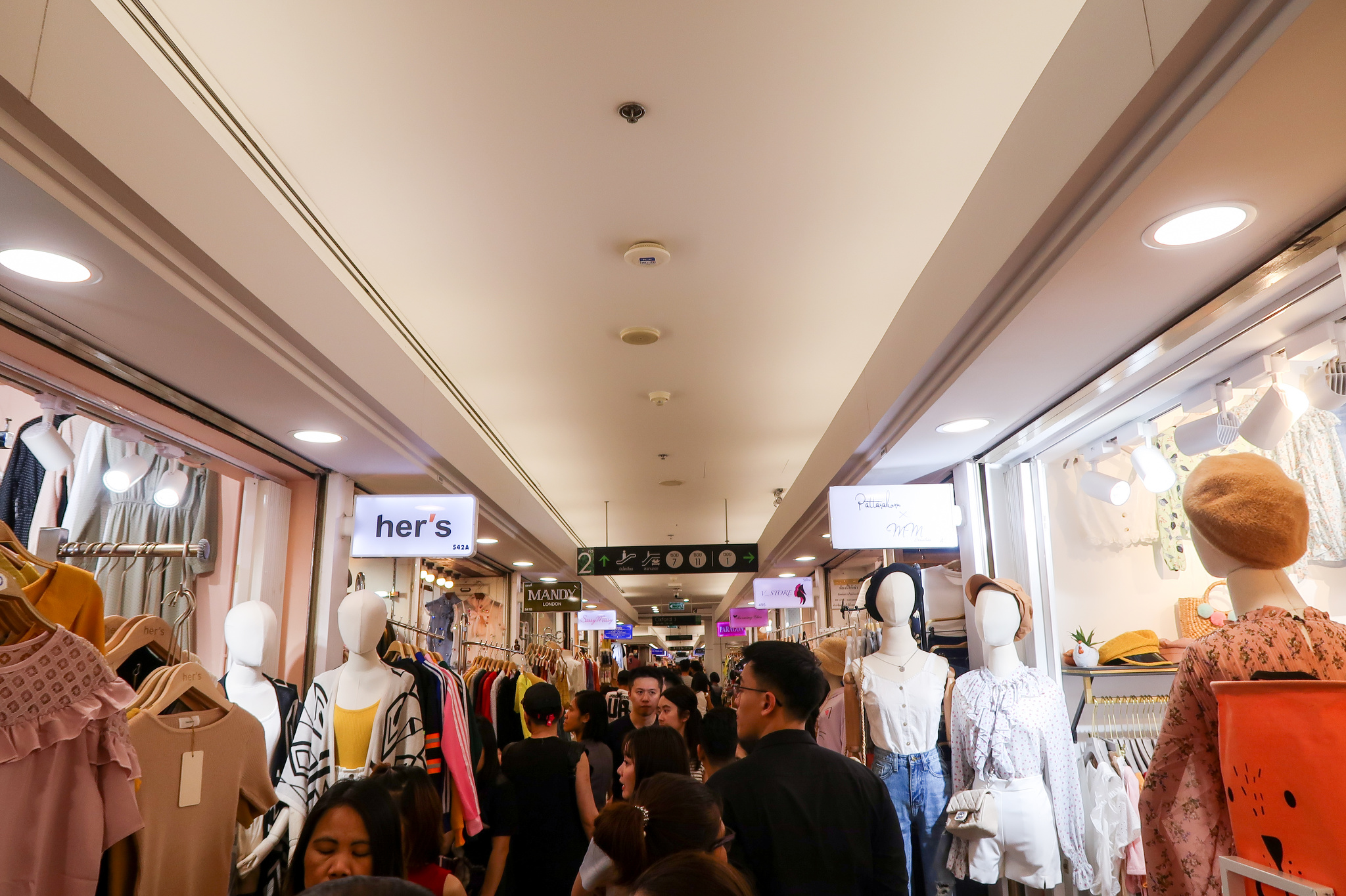 Inside the crowded Platinum Shopping Mall.