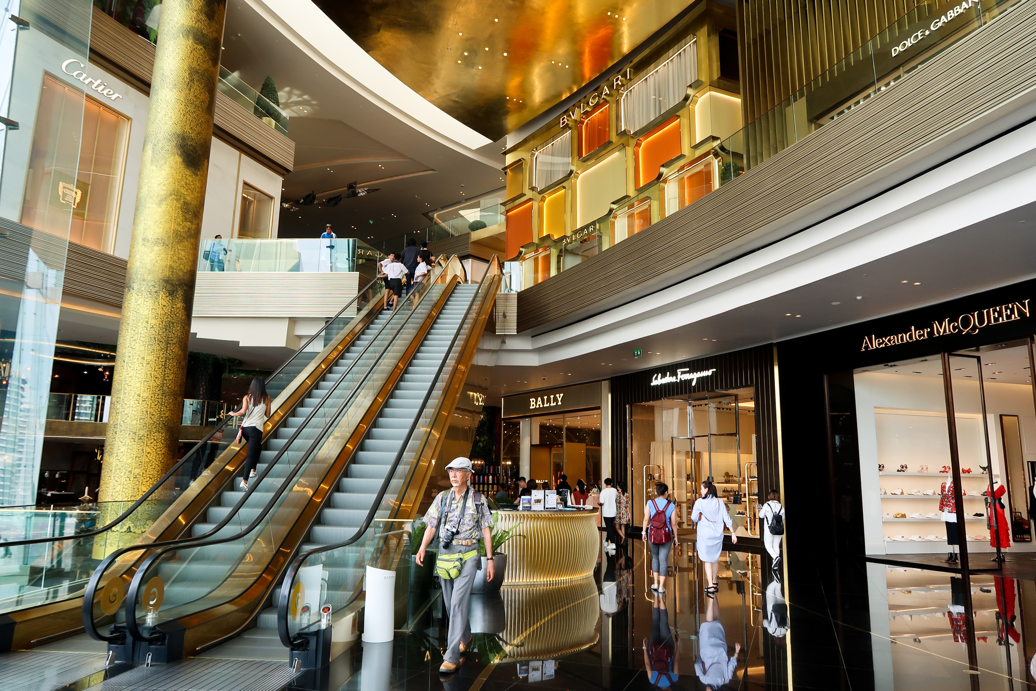 Inside the Iconsiam complex.