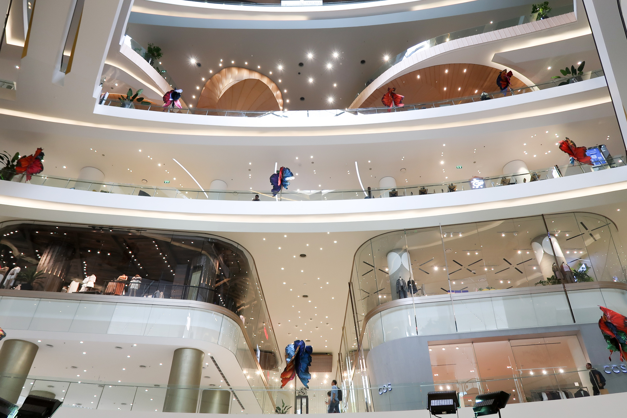 Inside the Iconsiam mall in Bangkok, Thailand.