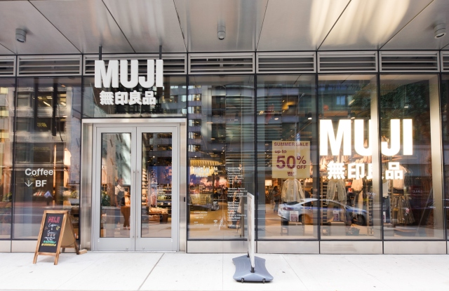 The Muji storefront on 59th Street.
