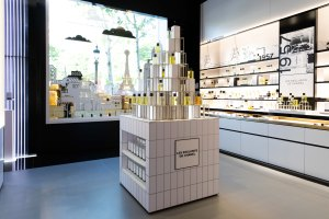 Inside the Chanel beauty boutique.