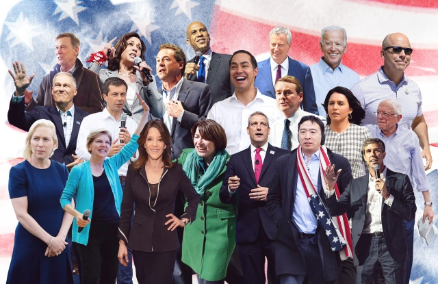The Democratic presidential candidates for the upcoming 2020 election.