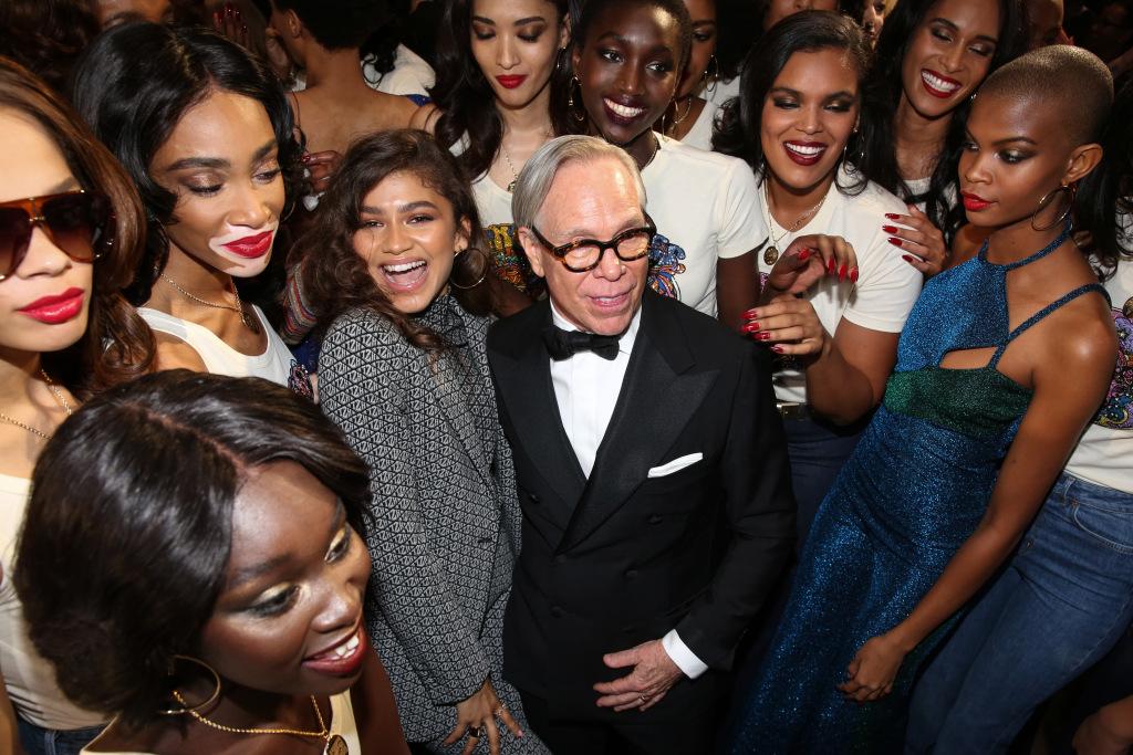 Zendaya, Winnie Harlow, Tommy Hilfiger and models backstageTommy Hilfiger show, Backstage, Fall Winter 2019, Paris Fashion Week, France - 02 Mar 2019