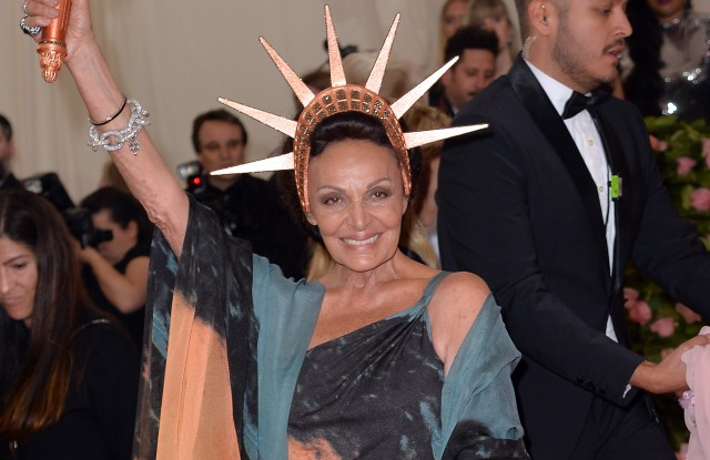 Diane von Furstenberg at the 2019 Met Gala.