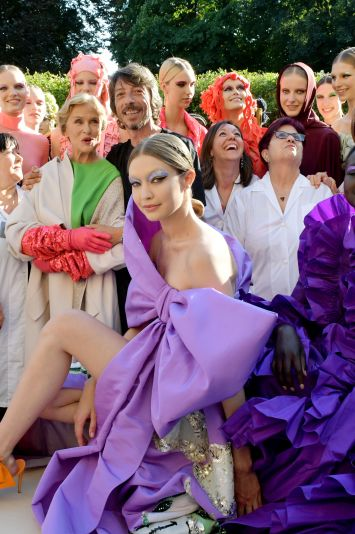 Gigi Hadid and models on the catwalkValentino show, Runway, Fall Winter 2019, Haute Couture Fashion Week, Paris, France - 03 Jul 2019
