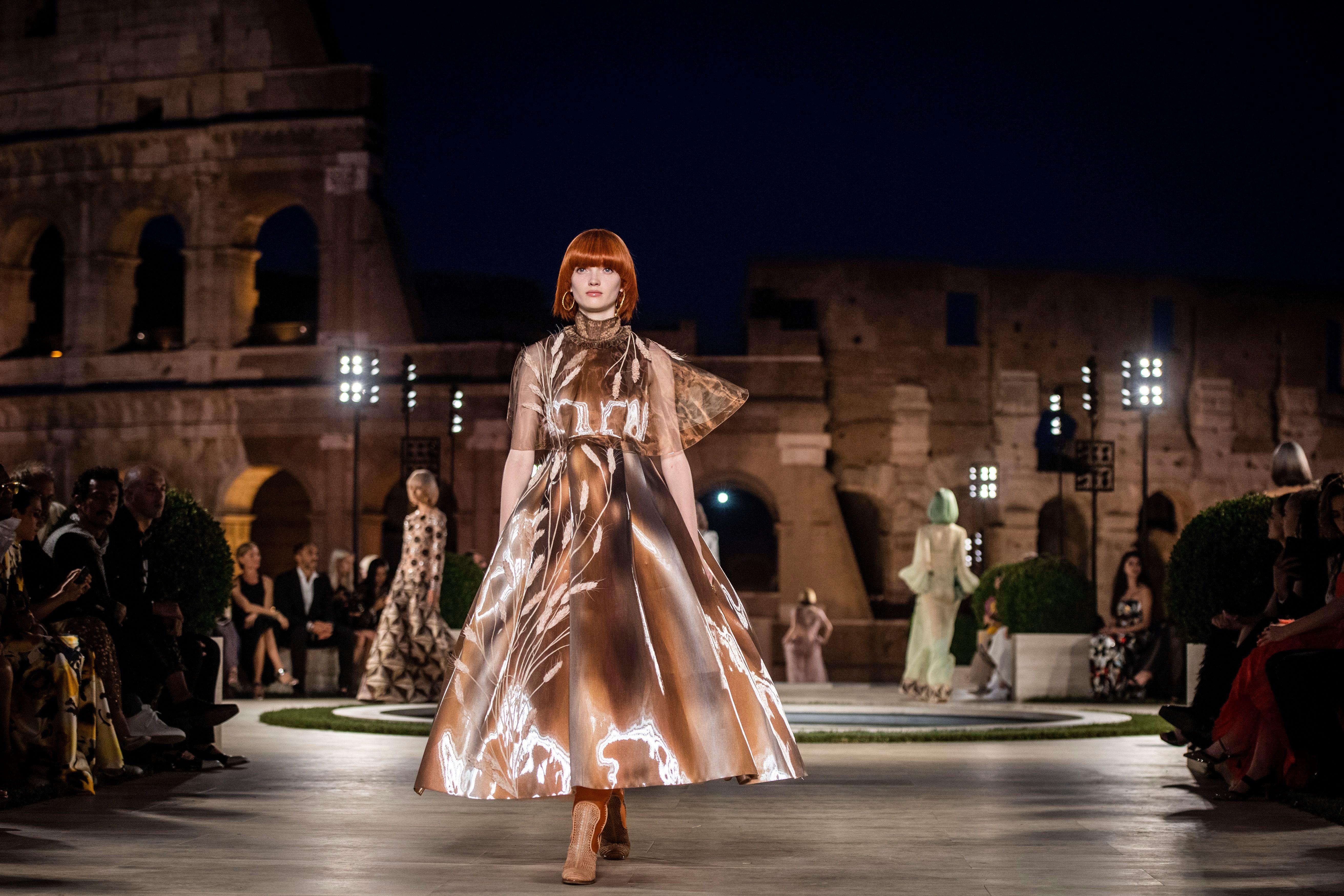 Model on the catwalkFendi show, Runway, Palatine Hill, Rome, Italy - 04 Jul 2019