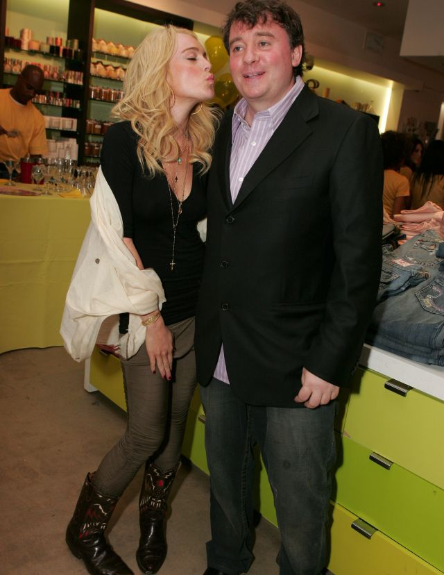 Lindsay Lohan and Fraser Ross'TWEETY' FASHION LAUNCH AT KITSON, LOS ANGELES, AMERICA - 10 MAY 2005 May 10, 2005 - Beverly Hills, CA. Lindsay Lohan and Fraser Ross (owner of Kitson) . Warner Bros. Consumer Products hosts the Launch of TWEETY, a collection of clothing and accessories based on the animated icon celebrating Tweety as a 'Natural Blonde,' at Kitson. Photo by: Eric Charbonneau®Berliner Studio/BEImages *** NO U.S. WEEKLIES SALES ! ***