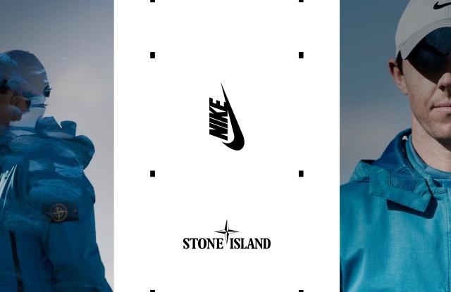 Rory McIlroy wearing the Stone Island x Nike Golf capsule