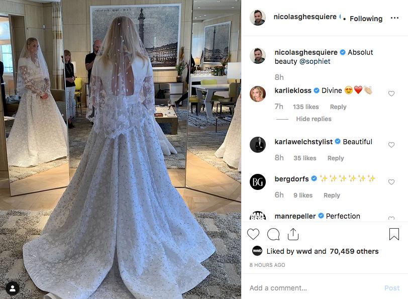 Sophie Turner's Louis Vuitton wedding dress.