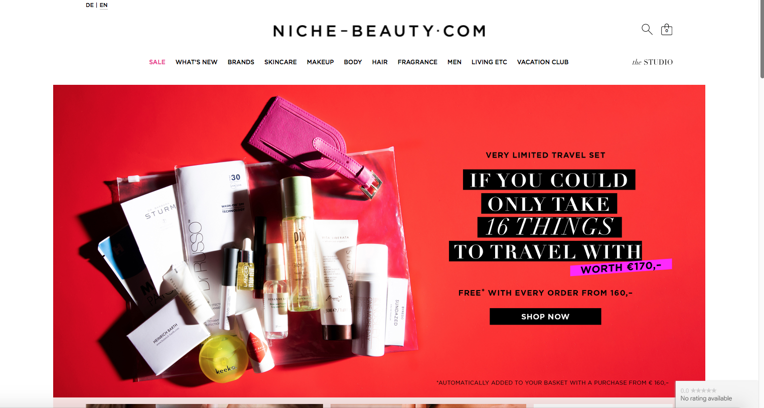 The site Niche Beauty