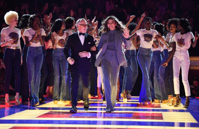 US designer Tommy Hilfiger and US actress Zendaya appears on the catwalk after presenting their Fall/Winter 2019/20 Women collection by Tommy Hilfiger during the Paris Fashion Week, in Paris, France, 02 March 2019. The presentation of the Women collections runs from 25 February to 05 March.Tommy Hilfiger - Runway - Paris Fashion Week Women F/W 2019/20, France - 02 Mar 2019