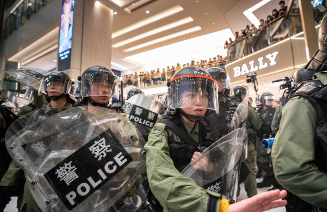 Repeated clashes between protesters and protesters have occurred including the latest incident inside a mall in the New Territories.