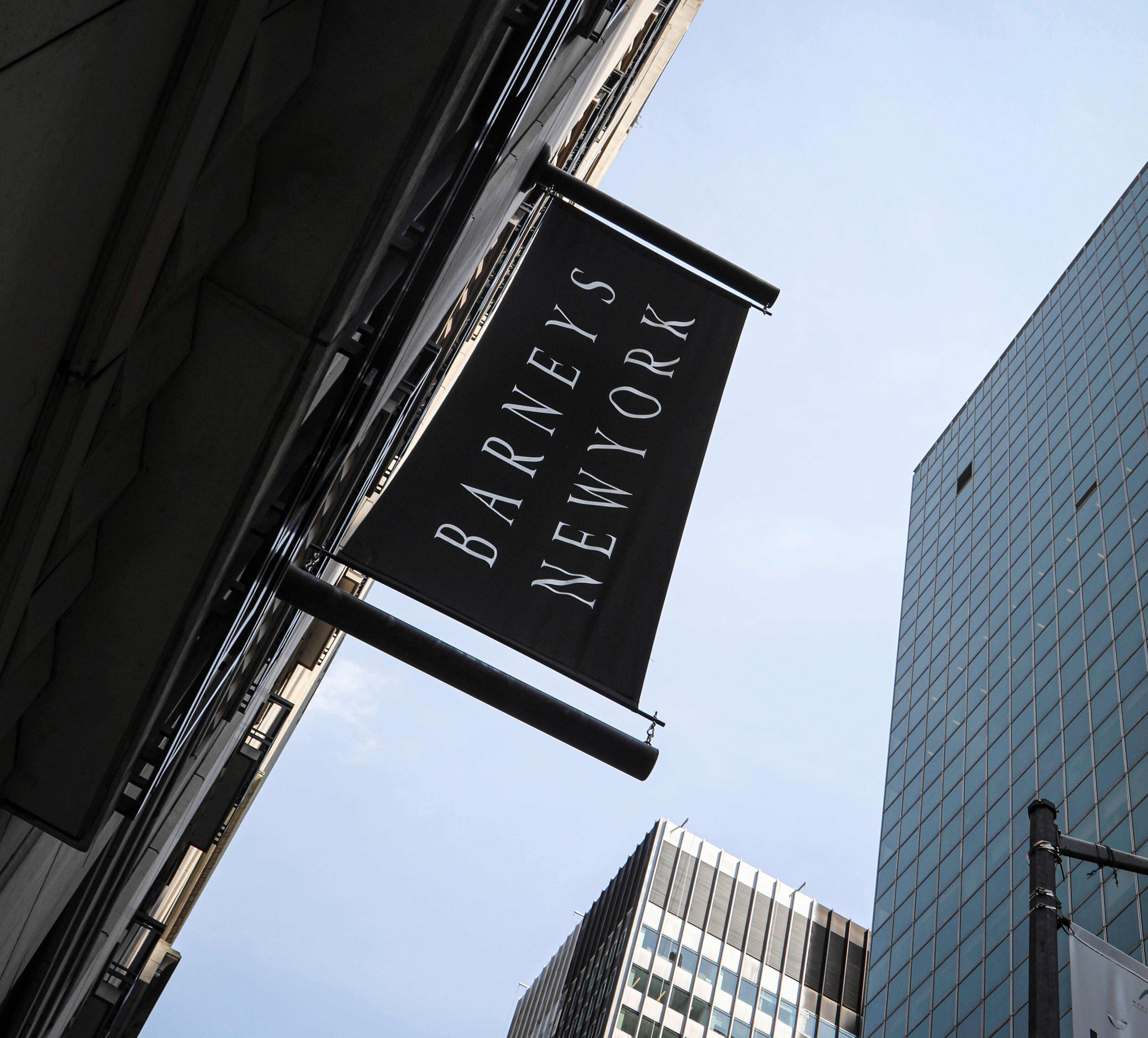 Signage for Barneys New York department store is displayed on an outdoor banner, in New York. The luxury retailer could be joining a growing list of retailers that have filed for bankruptcyBarneys -Options, New York, USA - 16 Jul 2019