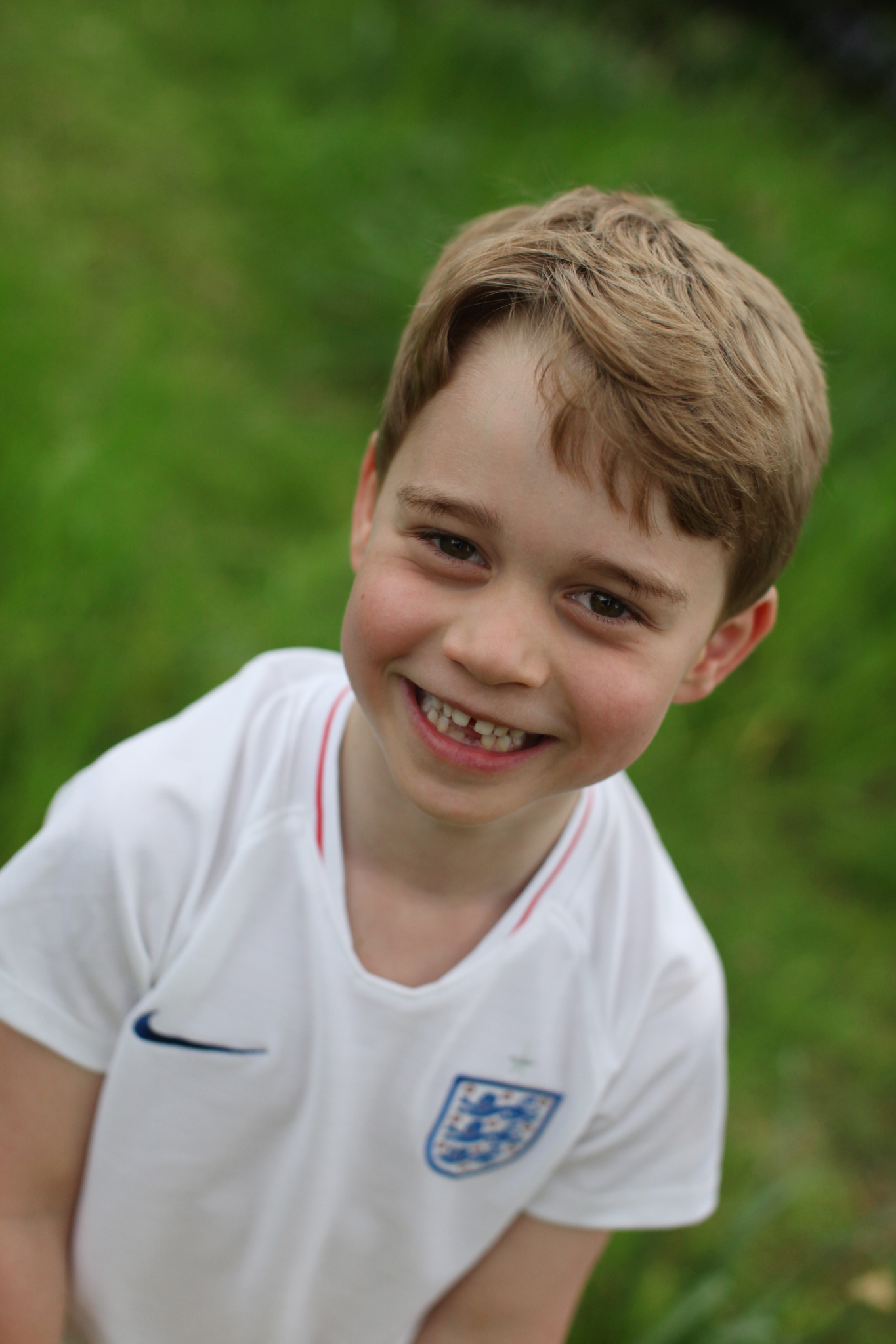 Britain's Prince George taken recently by his mother, the Duchess of Cambridge, in the garden of their home at Kensington Palace, to mark his sixth birthday in London, Britain. Prince George turns six on 22 July.