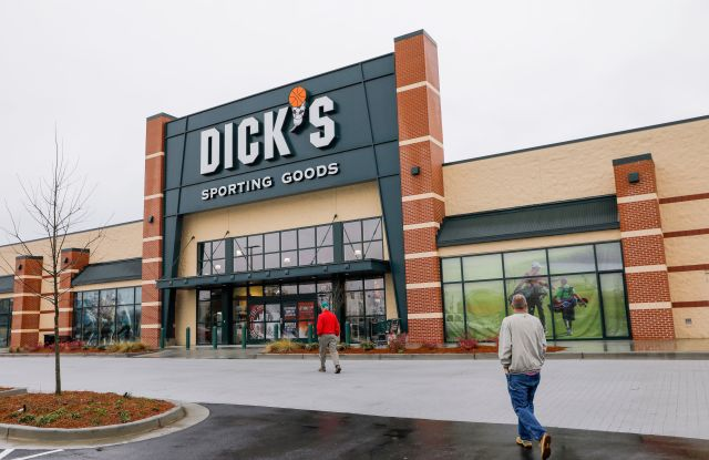 A Dick's Sporting Goods store in Tucker, Georgia, USA, 28 February 2018. Dick's Sporting Goods announced they would be ending sales of assault-style rifles and banning the sale of guns to people younger than 21.Dick's Sporting Goods gun sales, Tucker, USA - 28 Feb 2018