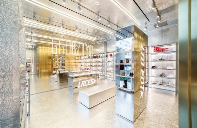 The interior of the new store, which offers a new concept called The Lab as well as the new Laces Bar;