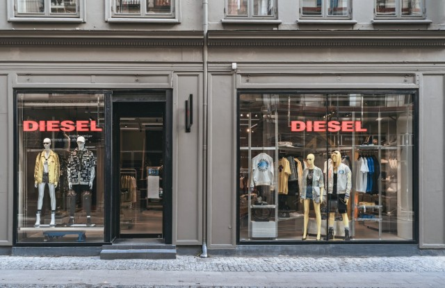 The newly remodeled Diesel store in Copenhagen.