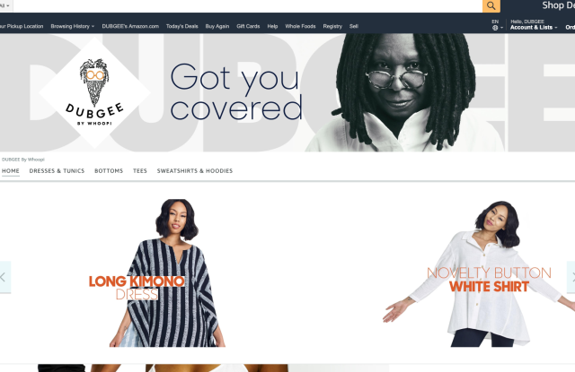 Dubgee by Whoopi's Amazon Storefront.