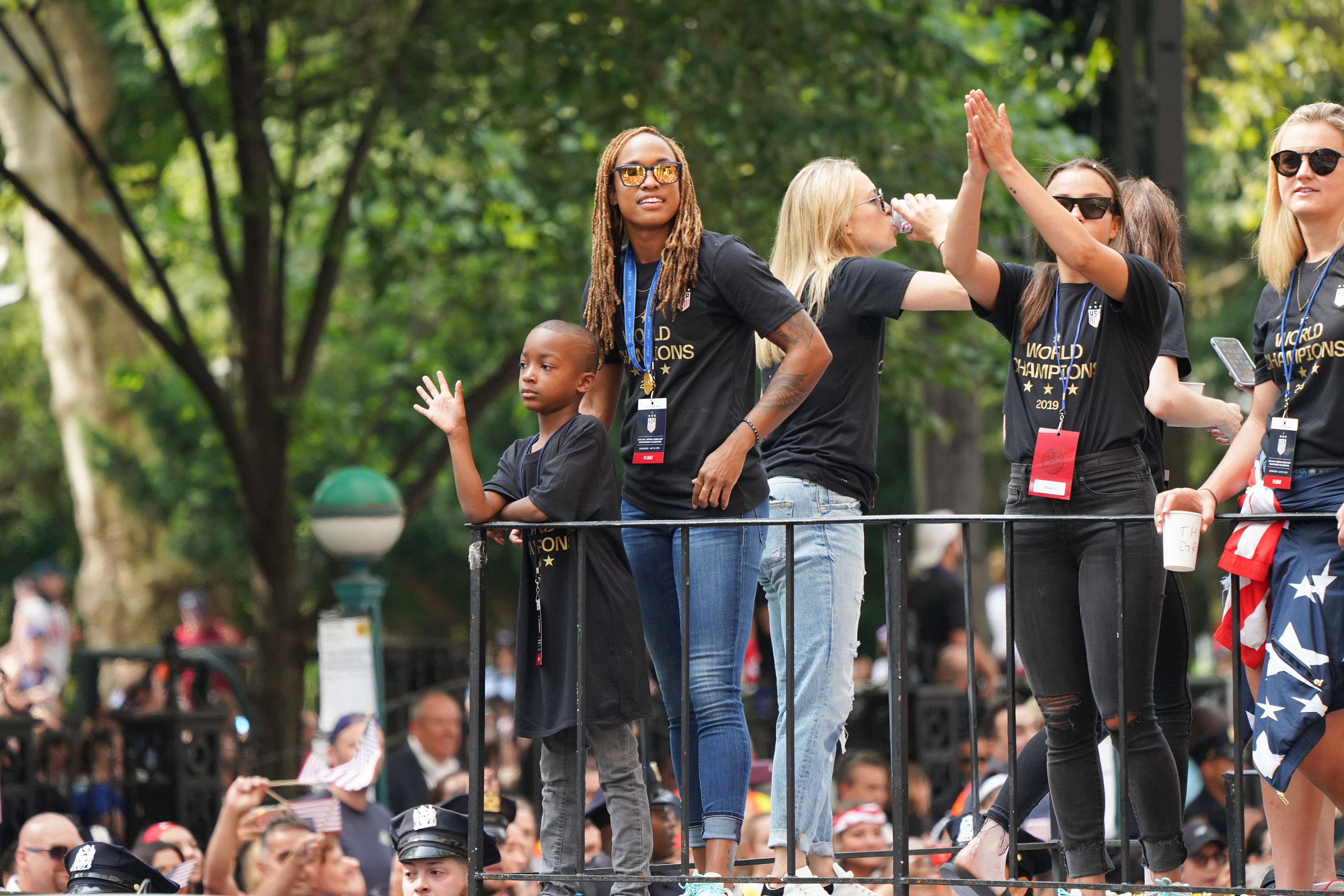 The scene at the Women's World Cup Parade in NYC.