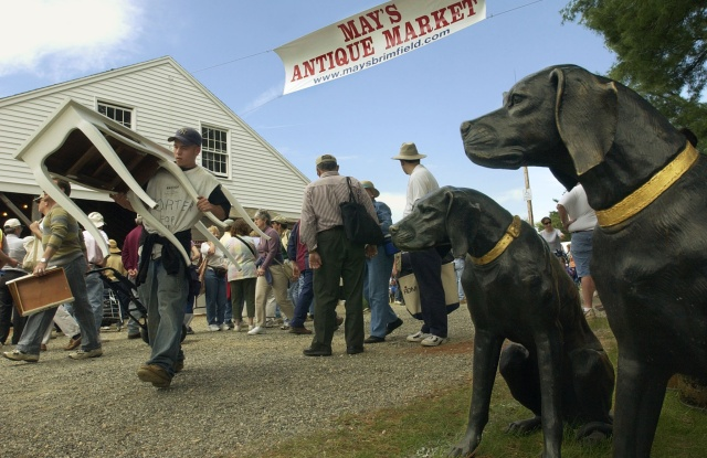 At the Brimfield Antique Fair, which has seen depleting resources of vintage fashion.