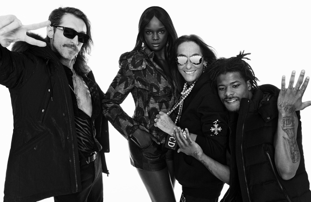Eugene Hutz, Duckie Thot, Carlyene Cerf de Dudzeele and Marty Baller in the new campaign.