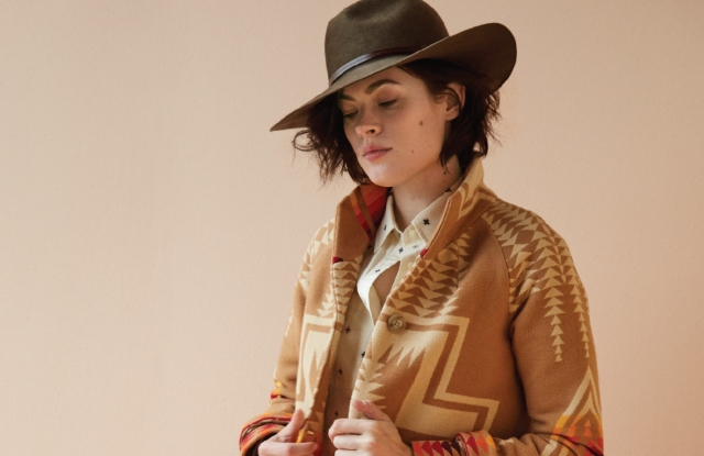 "Pendleton's ""Harding"" coat was inspired by a design from the Thirties."