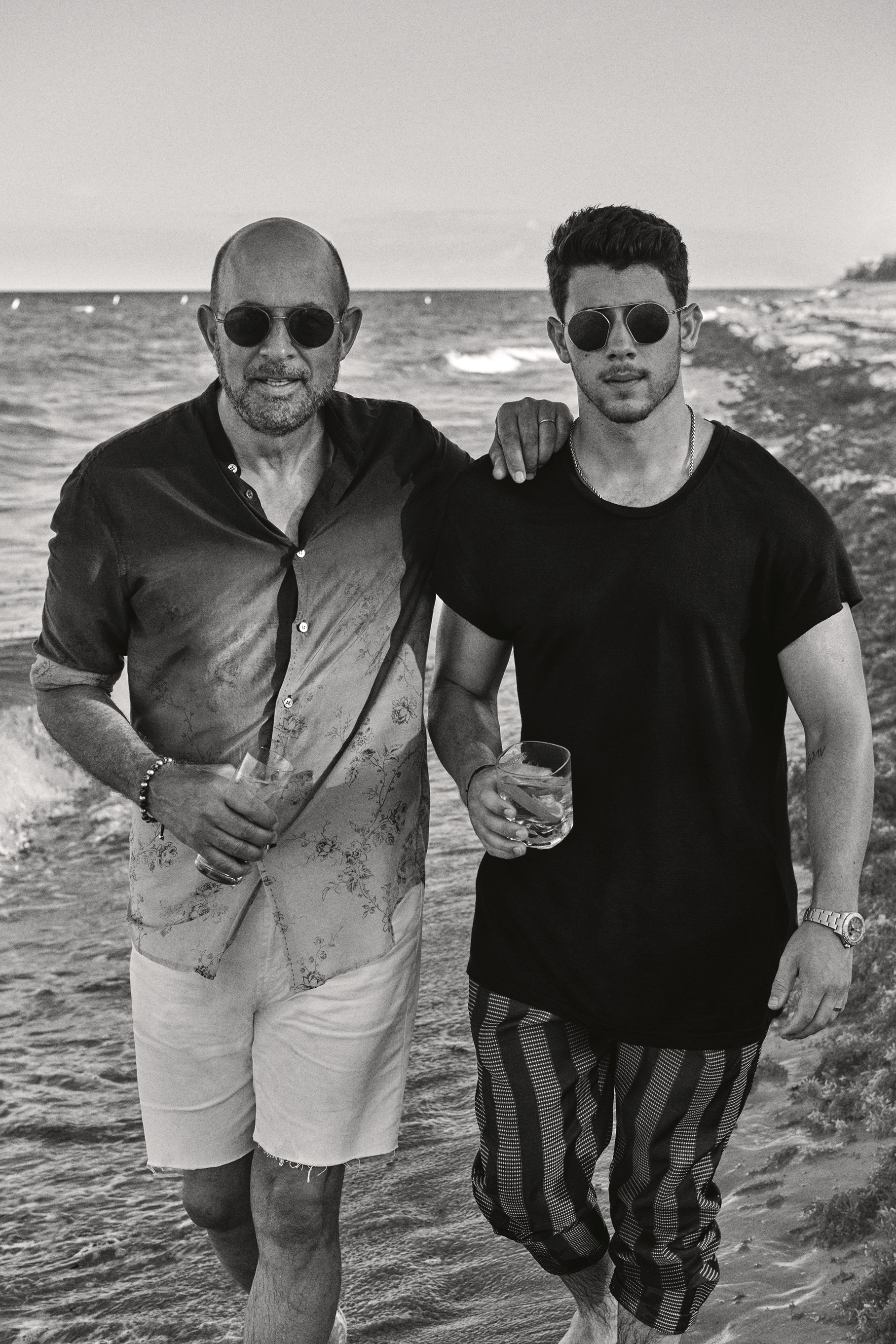 John Varvatos and Nick Jonas in Mexico.