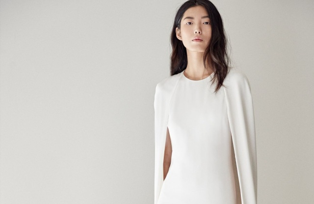 A Stella McCartney look with cape.