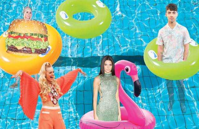 Katy Perry, Elle Fanning, Kendall Jenner, Joe Jonas and more have made it to WWD's list of the best and most wacky celebrity water toys of the summer.