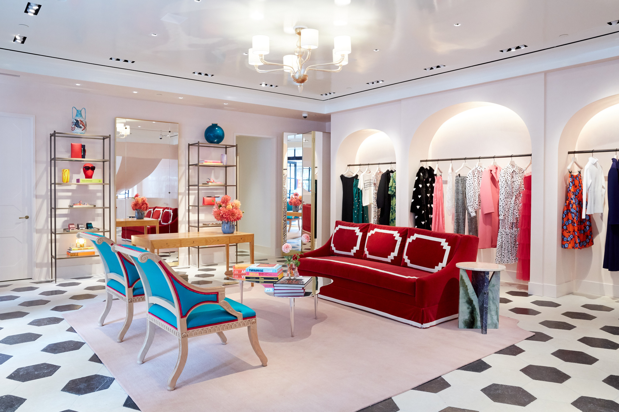The interior of the Carolina Hererra store at 954 Madison Ave.