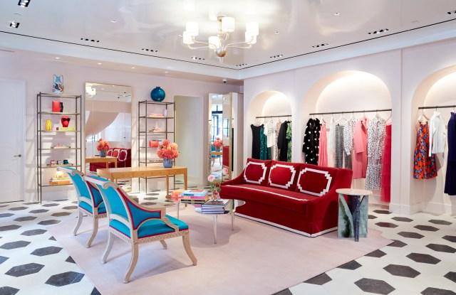 The interior of the Carolina Hererra store at 954 Madison Ave.