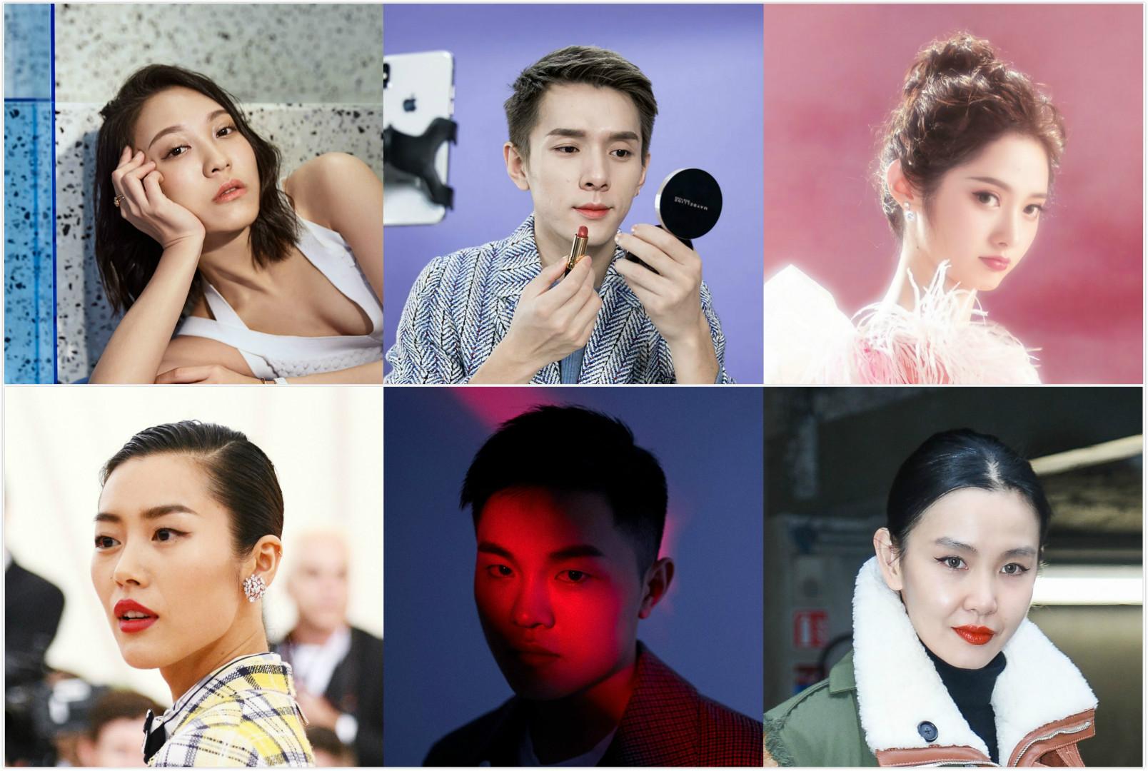 Top, from left to right, Anny Fan, Austin Li and Rita Wang. Bottom, from left to right, Liu Wen, Yu Zheng and Sherry Shen