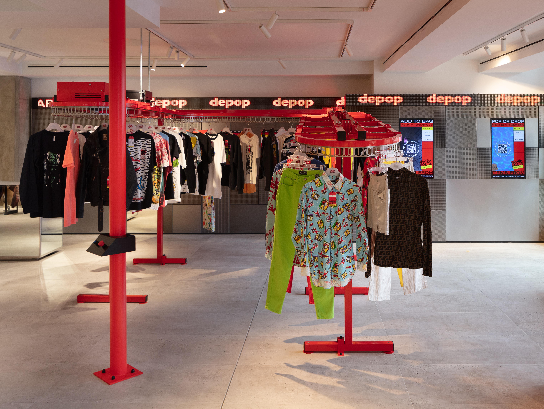 Depop pop-up store in Selfridges