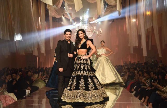 Manish Malhotra with Bollywood actress Katrina Kaif.
