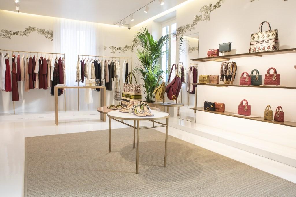 The Dior Riviera pop-up shop in Forte dei Marmi.