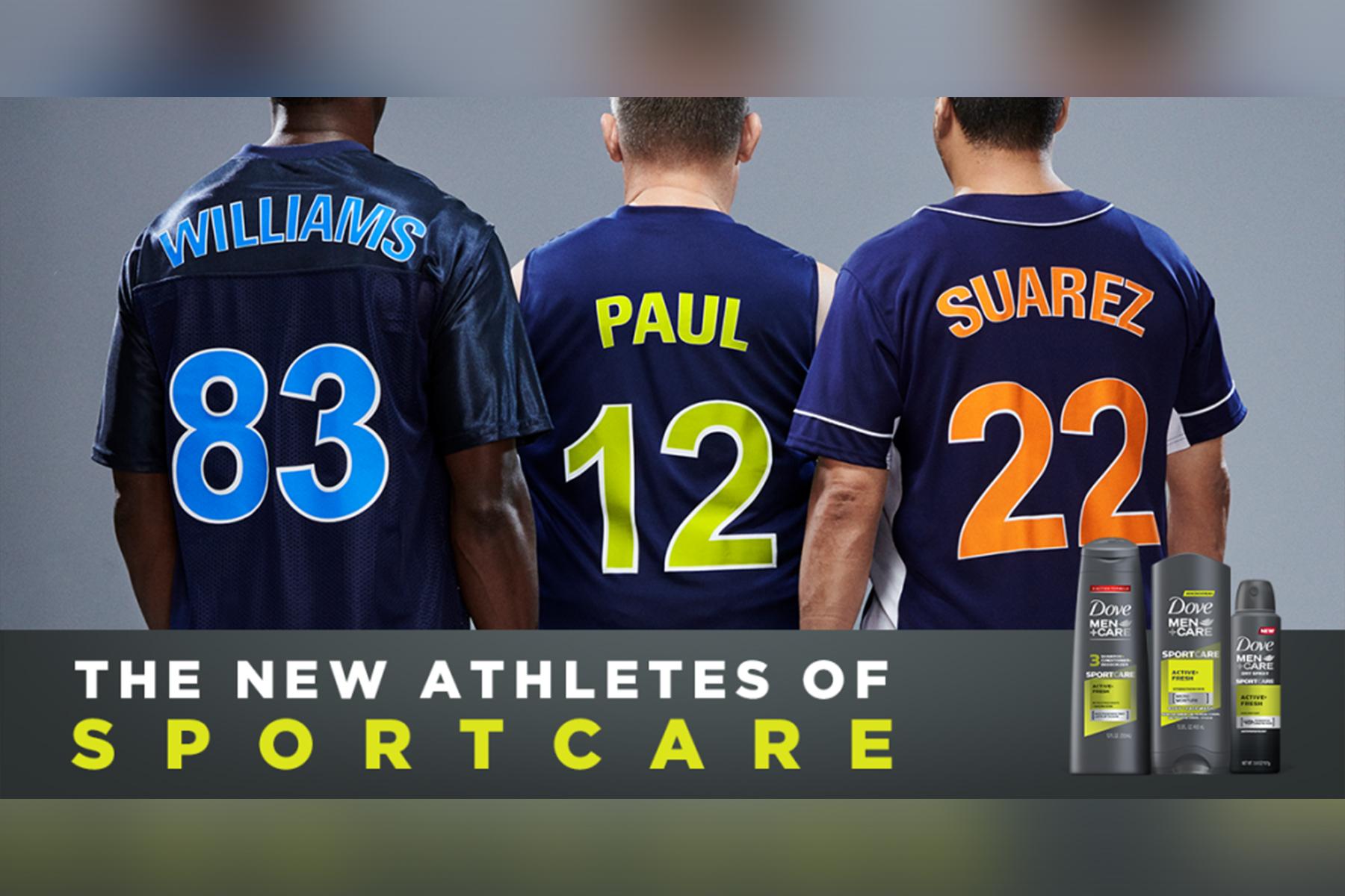 The Dove Men+Care Sportcare campaign.