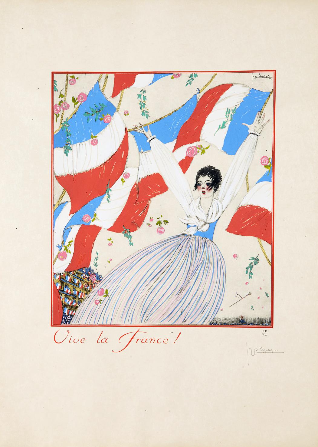 """Georges Lepape's 1917 """"Vive La France."""""""