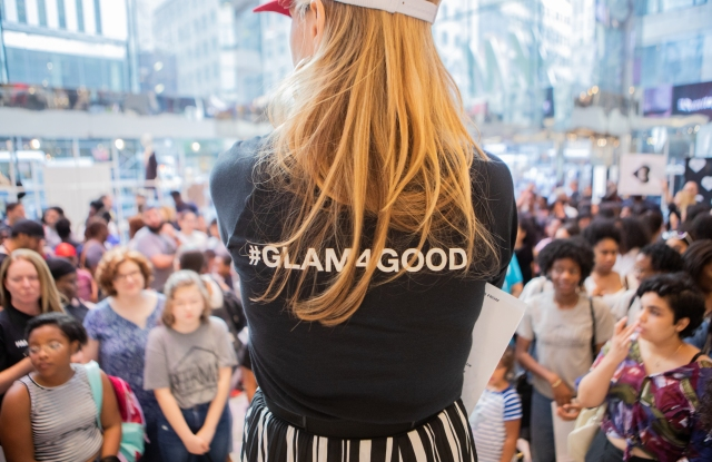 Mary Alice Stevenson at last year's #GetSchooled event at H&M's Fifth Avenue flagship.